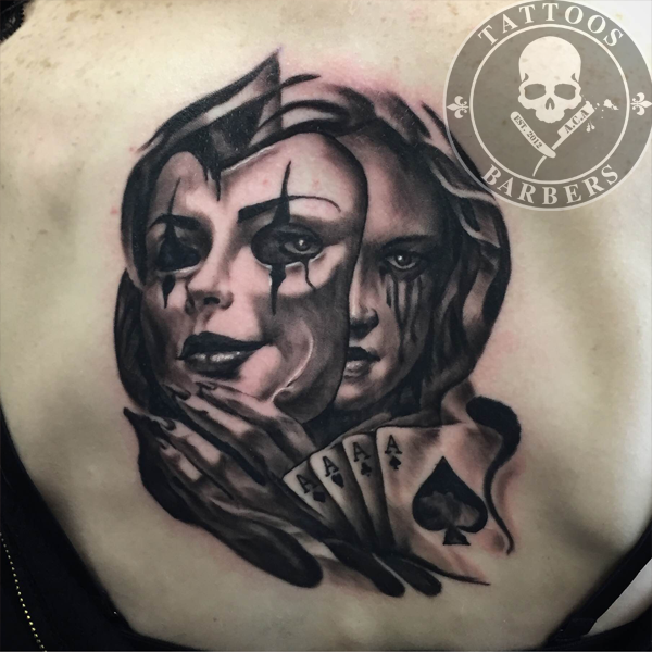 Tattoo Woman Face Mask: Tattoo Studio - A Cut Of Art
